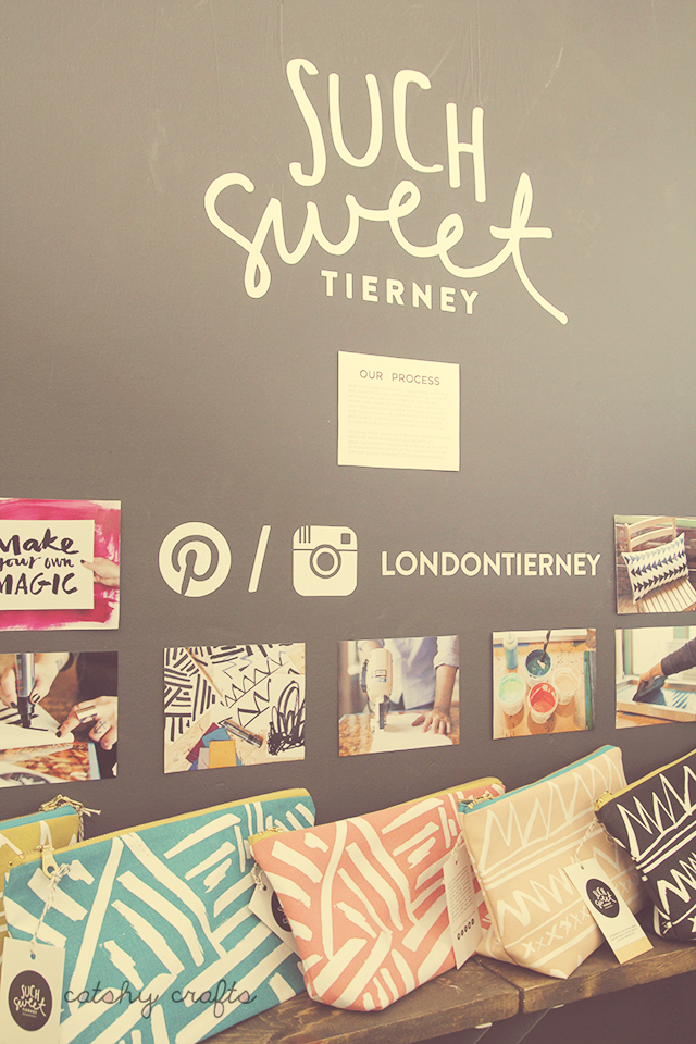 Stepping into this booth felt like walking into a brick and mortar boutique. Love the name too! Such Sweet Tierney.