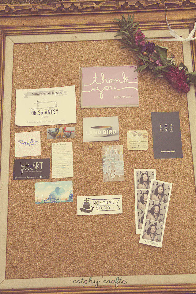 More souvenirs from my RCF visit: business cards, my flower crown, and photo booth shots.