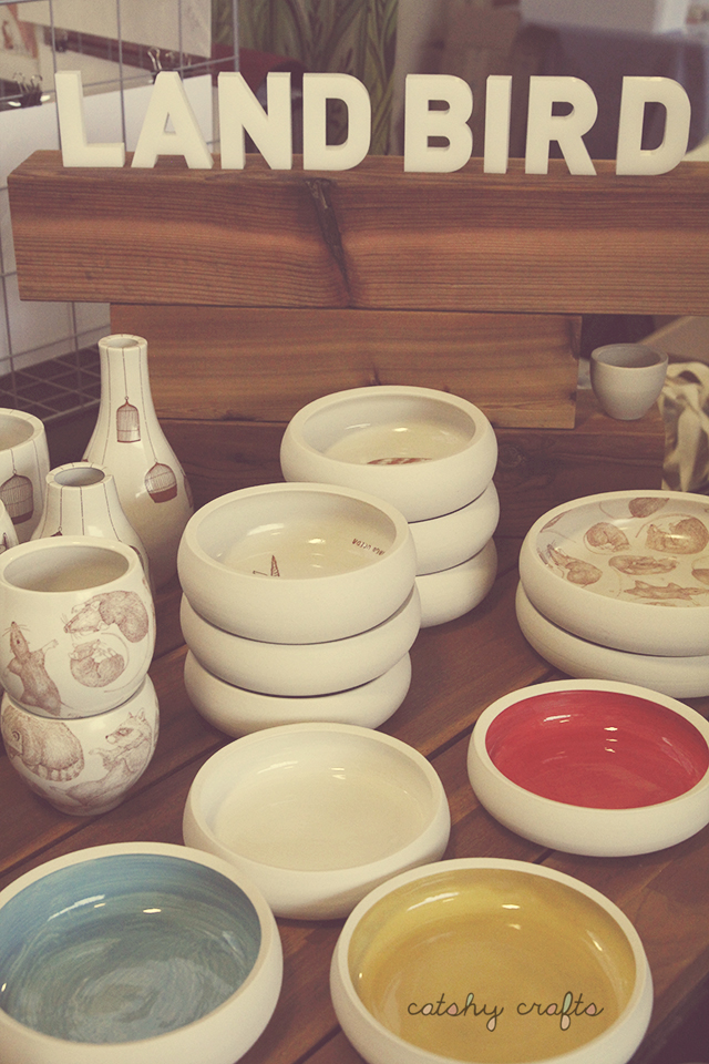 Hand-thrown porcelain ceramics by Land Bird.