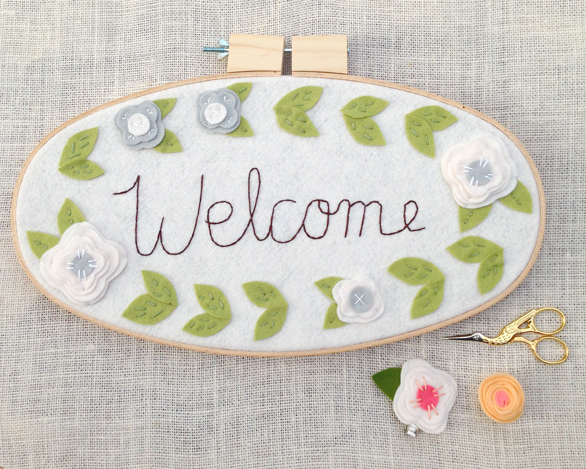 Welcome - 8 x 15 inches